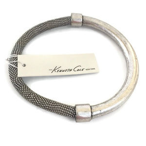 NWT Kenneth Cole Silver Beaded Bangle Bracelet